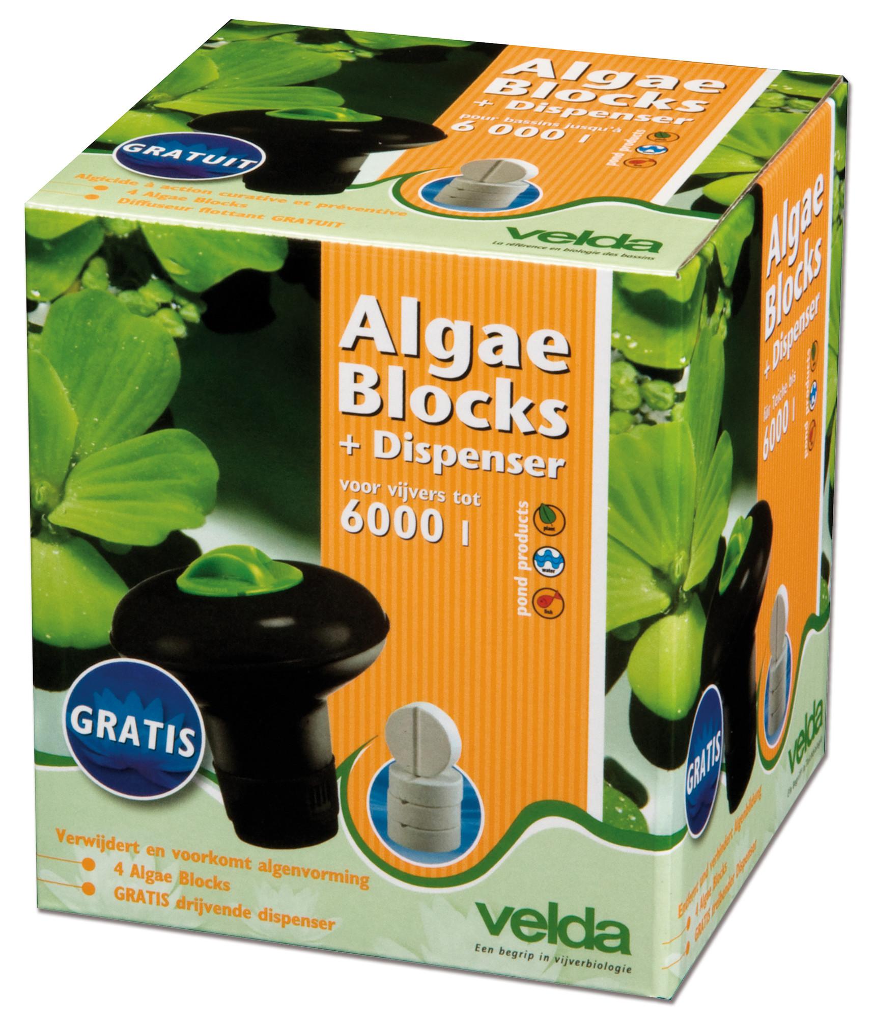 Velda Algae Blocks + Dispenser Voor 6000 Liter Water