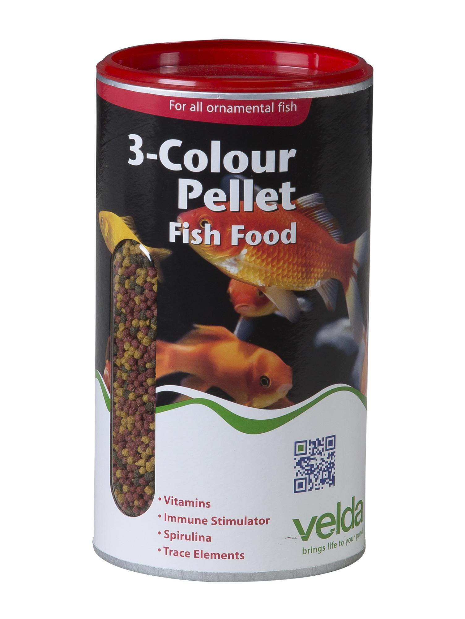 Velda 3-Colour Pellet Food 1250 Ml / 470 Gram