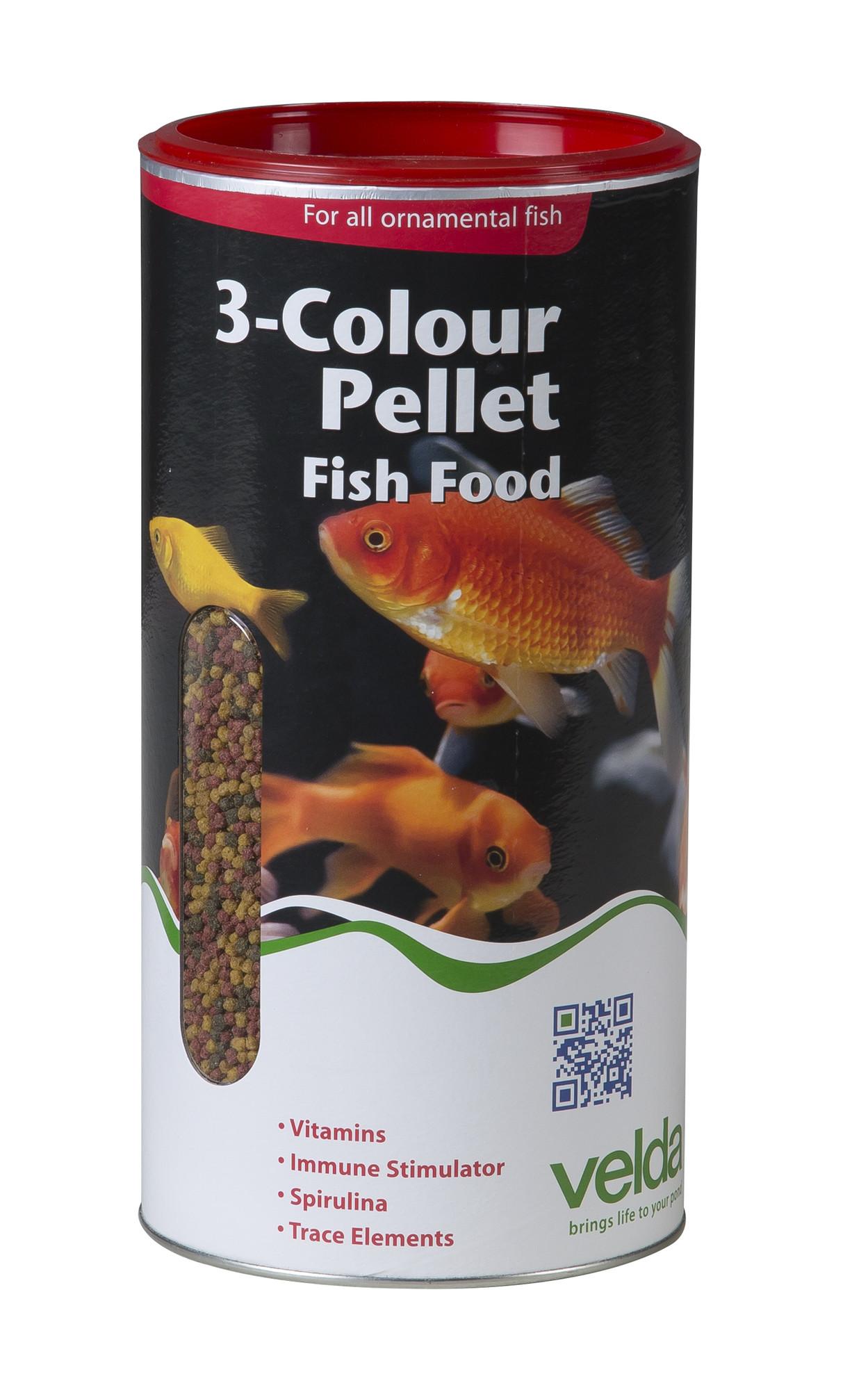 Velda 3-Colour Pellet Food 2500 Ml / 880 Gram