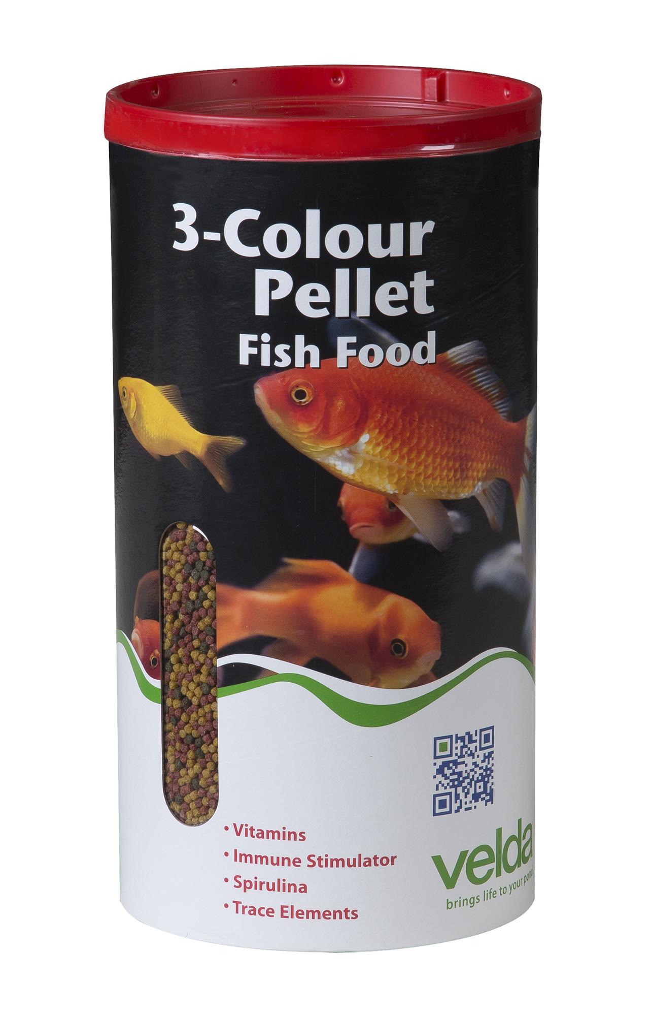 Velda 3-Colour Pellet Food 4000 Ml / 1375 Gram