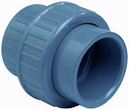 3/3 Koppeling Met O-ring Lijm 75mm