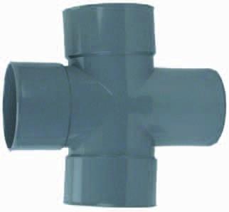 PVC Dubbel T-Stuk 88° 3 X Mof/ 1 X Spie 110mm Wavin
