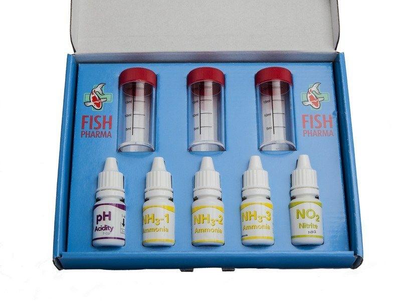 Fish Pharma Water Test Set PH-NH3-NO2