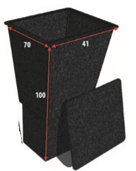 Polyester Pompput Met Deksel 100 CM