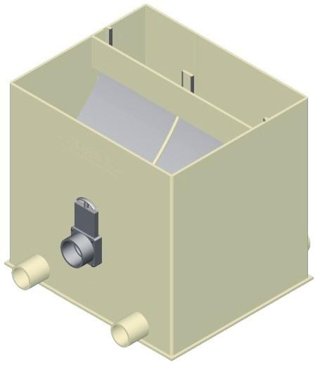 Aquaforte Ultrasieve Extra Breed (3 Ingangen) Zwaartekracht Zeefbochtfilter