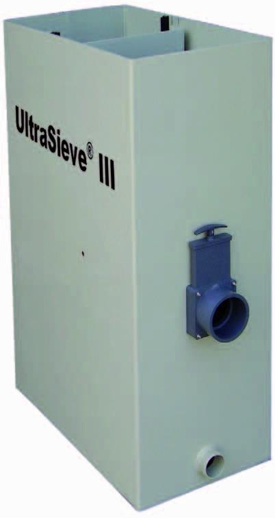 Aquaforte Ultrasieve III 300 (standaard) Zwaartekracht Zeefbochtfilter